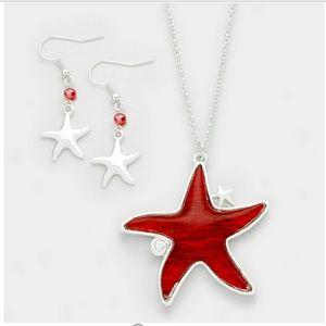 Epoxy Starfish Pendant Necklace